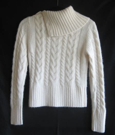 white cable knit sweater womens banana republic womens sweater white angora wool cable
