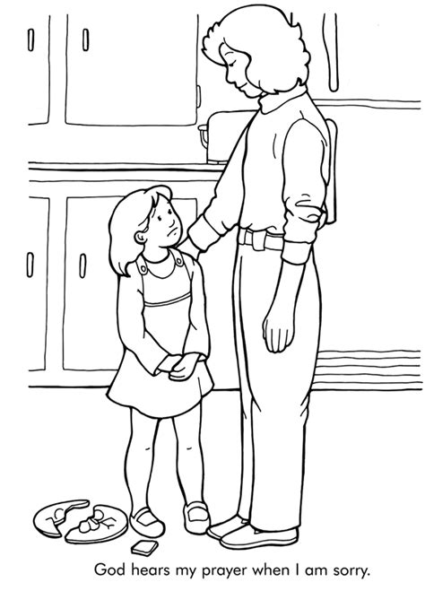 coloring pages that say i you god hears my prayers coloring page