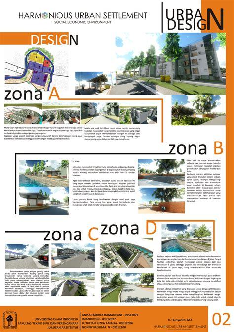 layout poster arsitektur mata kuliah urban design kedengerannya keren ya