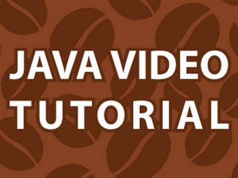 java tutorial on youtube java video tutorial youtube