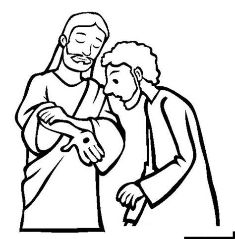 imagenes de jesus resucitado para colorear dibujo de jesus mostrando sus heridas despues de