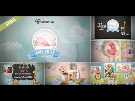 Birth Announcement Baby Photo Album After Effects Template Youtube Baby Photo Album After Effects Project Template Free
