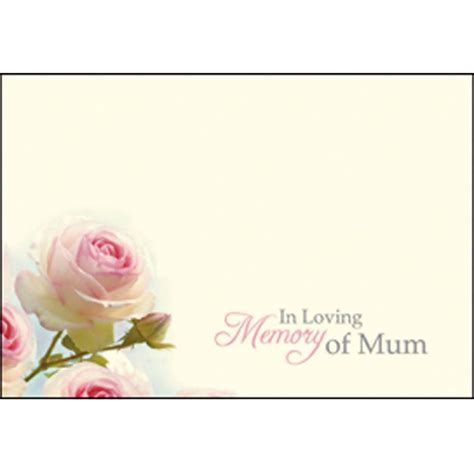In Loving Memory Cards Template Free by 9 25 50 100 Oasis Florist Message Gift Card Plain