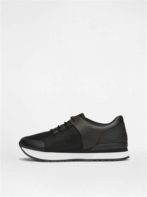 dkny mens sneakers dkny jaxone sneaker in black for lyst