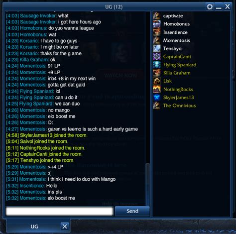 lol chat rooms home league of legends south africa