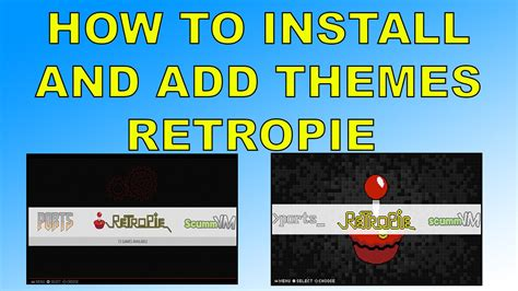 Changing Themes On Retropie | how to change the look of retropie install themes