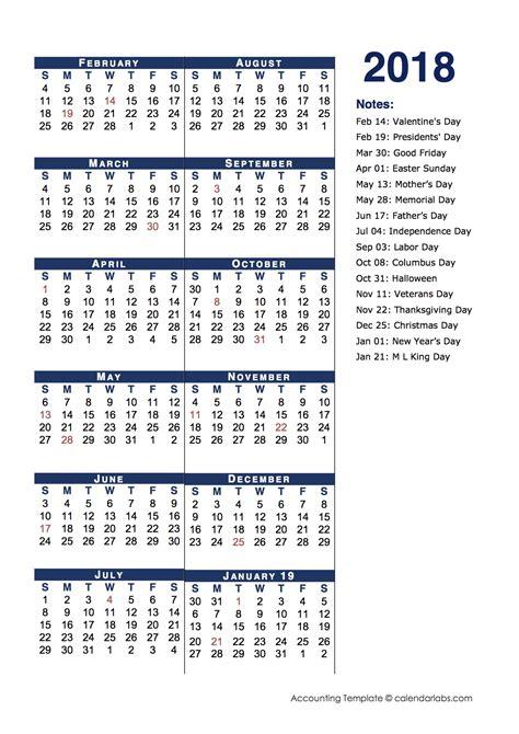 2018 Fiscal Calendar 2018 Fiscal Period Calendar 4 4 5 Free Printable Templates