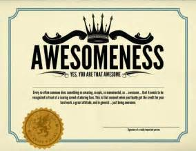 certificate of awesomeness template 17 best images about awesomeness on im