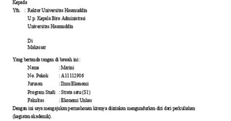 contoh surat pengunduran diri dari himpunan mahasiswa 28 images
