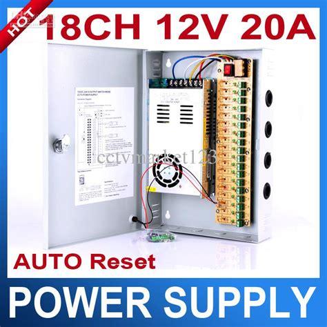 Power Supply Box 20 A 18ch 12v 20a cctv power supply box 12v 20a 240w monitor