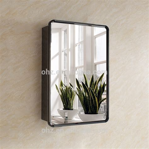 large bathroom mirror with storage new arrival modern stainless steel black bathroom mirror