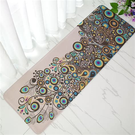 Bantalan Anti Selip Motif Chanel aliexpress buy vintage peacock doormat anti slip coral floor mat door mat carpet home
