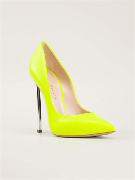 casadei high heels lyst casadei high heel pumps in yellow