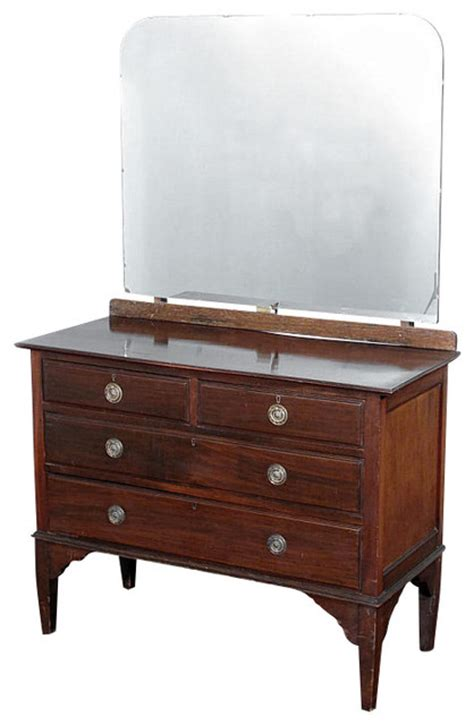 antique mahogany dresser chest vanity mirror
