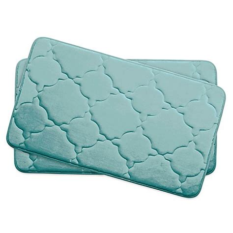 ruby memory foam comfort mat buy bounce comfort dorothy memory foam 17 inch x 24 inch bath mats in aqua set of 2 from bed