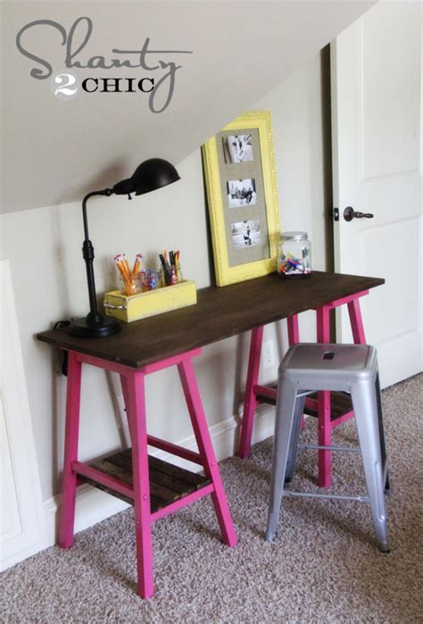 diy barstool desk shanty  chic