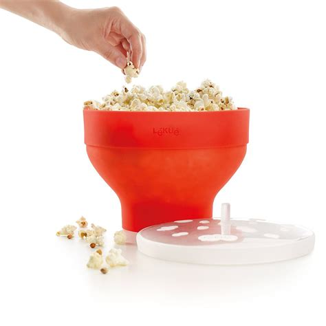 corn maker lekue collapsible silicone popcorn maker bowl the green