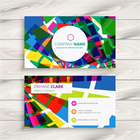funky business card vector free