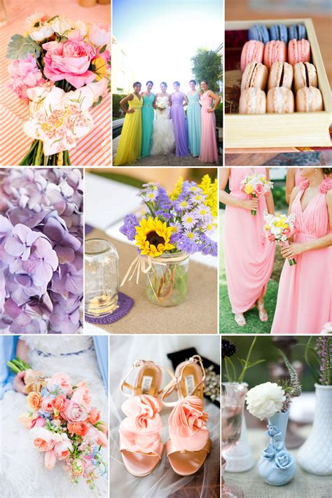 romantic easter wedding color palette lilac yellow