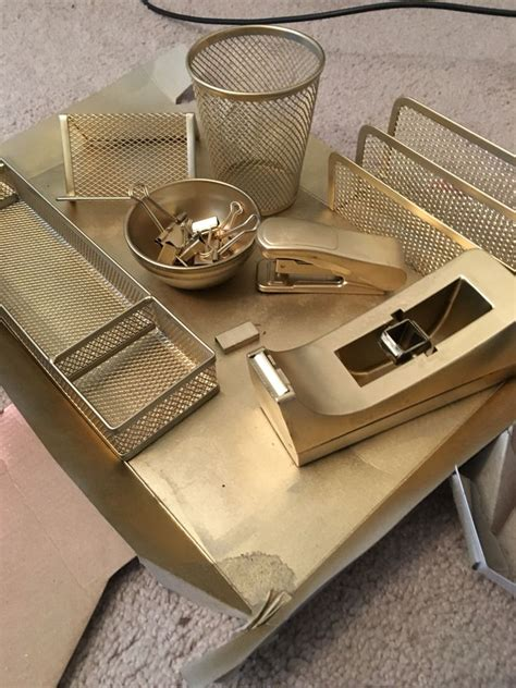 Gold Desk Accessories 25 Best Ideas About Gold Office Supplies On Pinterest Chic Cubicle Decor Office Desk