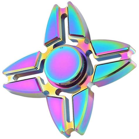 Fidget Spinner Tengkorak 3 Side Spinner Fidget Toys Berkualitas zinc alloy rainbow fidget spinner crab blade