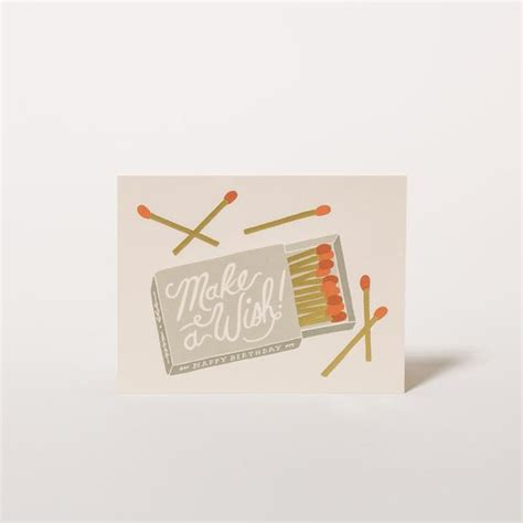 Wishes Written On Paper Make This - geburtstagskarte make a wish birthday rifle paper co