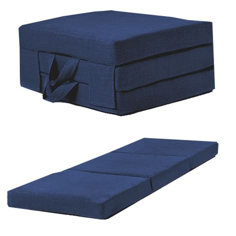 futon guest bed blue linen effect single chair z bed folding futon fold