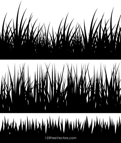 grass clipart free grass silhouette clip 123freevectors