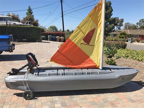 kayak sailing wavewalk 174 stable fishing kayaks portable - Kayak Boats Sail