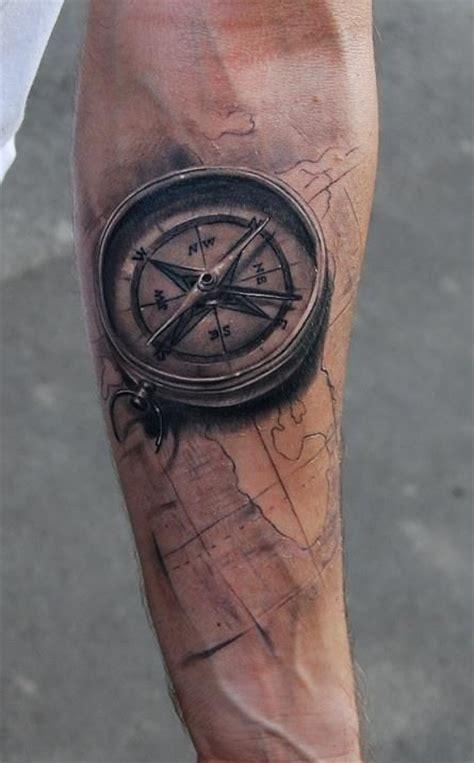 compass tattoo under arm http tattoomagz com maps tattoos on arms black compass