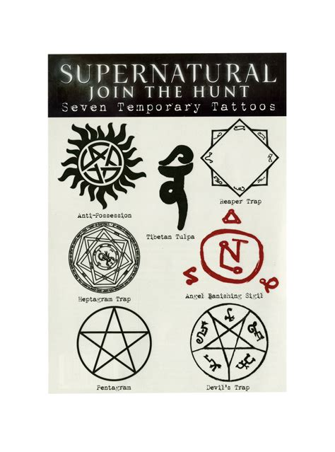 Novelty Coffee Mugs supernatural runes temporary tattoos from hot topic