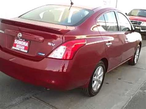 red nissan versa 2014 2014 nissan versa sv red brick n8634 youtube