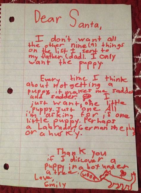 little girl writes masterfully manipulative santa letter asking for a puppy barkpost