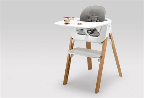 stokke steps high chair tray an ergonomic baby chair that grows with your kid co