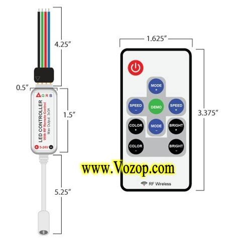 mini led rgb controller with power supply socket rf remote led strips led