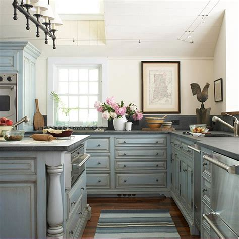 Blue Kitchens by Pale Blue Kitchen Cabinets Design Ideas