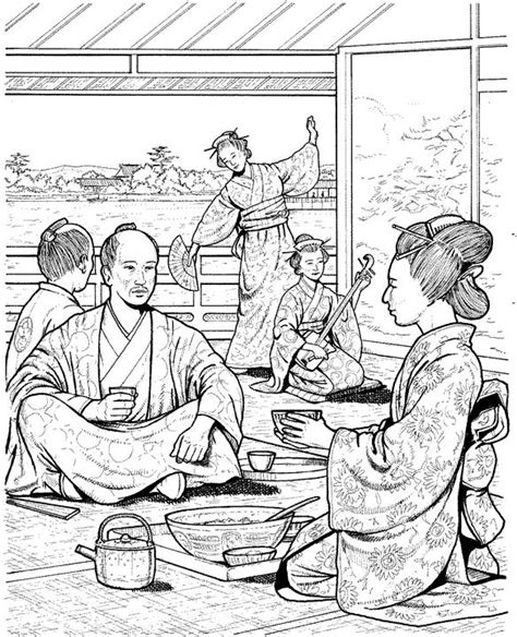 japanese garden coloring page coloring pages japanese holidays