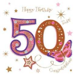 happy 50th birthday greeting card by talking pictures cards kates