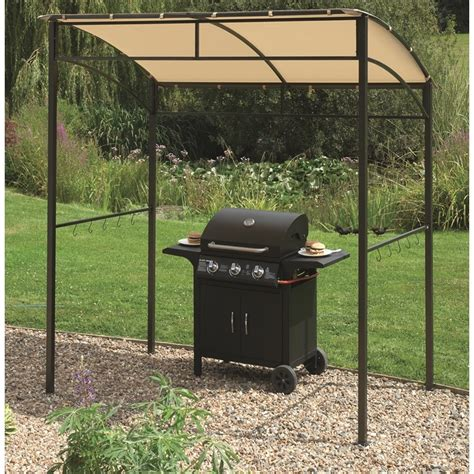 barbeque gazebo barbecue gazebo 216x130x220cm the garden factory