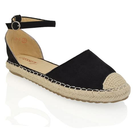 flat shoes with straps womens espadrilles ankle flat sandals summer