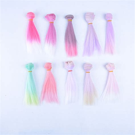 diy ombre gradient hair diy hair extension wigs for 1 3 1 4 1 6 bjd doll