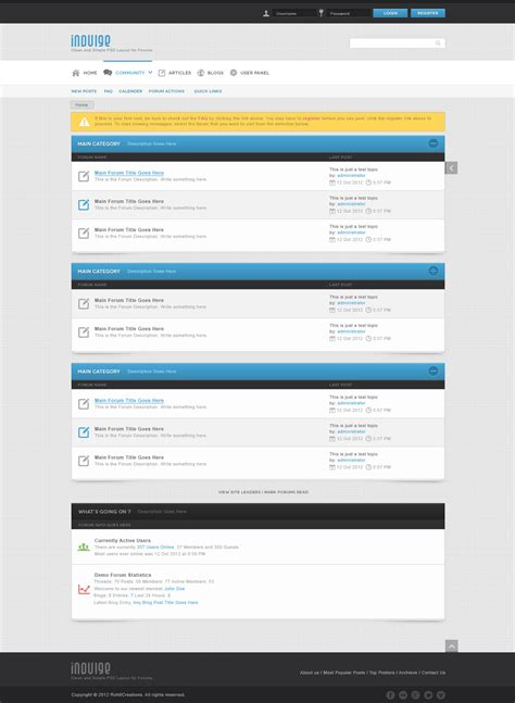 indulge clean psd for forums and blogs by wellmadepixel