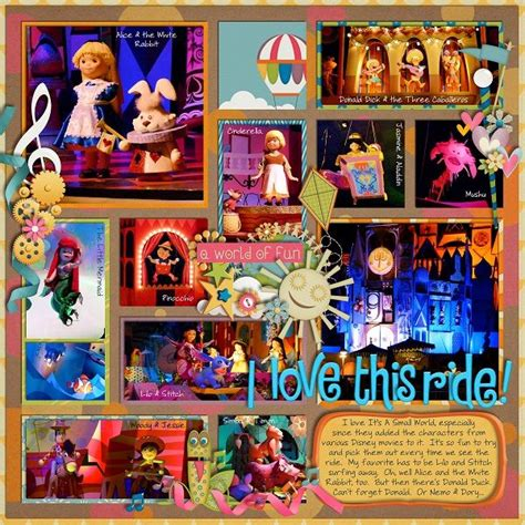 micro layout scrapbook disney scrapbook ideas picmia