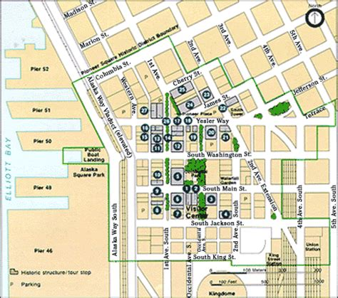 seattle map pioneer square gold fever locating the site 2