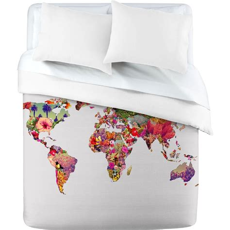 world map bedding bianca green its your world duvet cover in love duvet