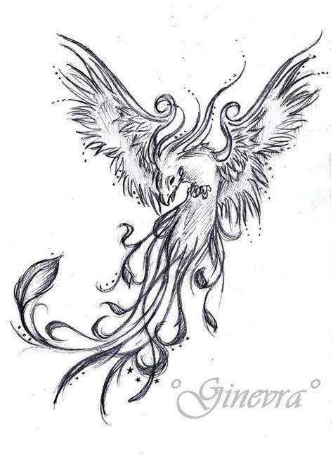 Phoenix Rising Tattoo Design
