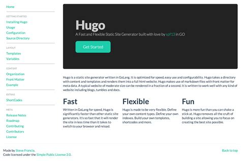 hugo website themes hugo a fast and flexible static site generator built in