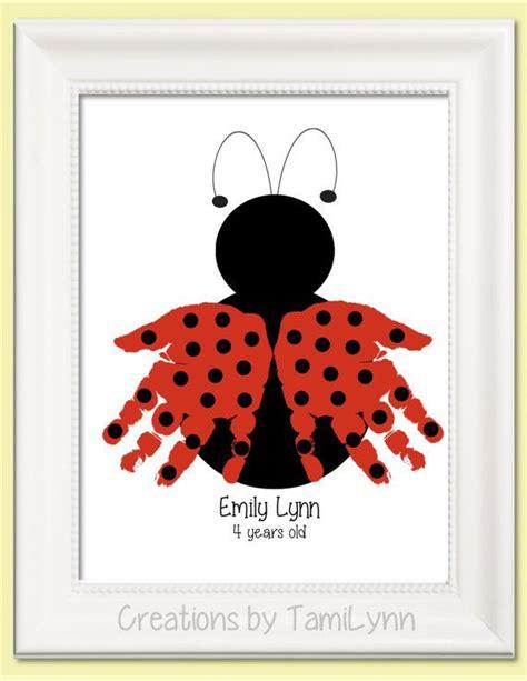 ladybug pattern for kindergarten ladybug handprint art kids pinterest personalized