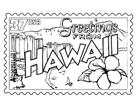 coloring page hawaii hawaii state coloring pages to