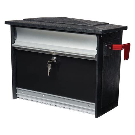 wall mounted locking mailsafe locking mailbox wall mount mailbox gibraltar